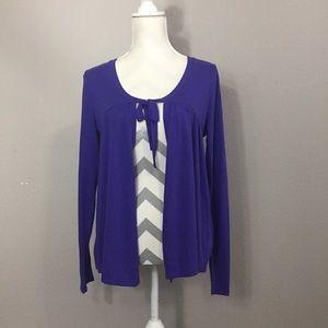 58001ab54ff Ashley Judd Sweaters   525 Cream Peplum Cardigan   Poshmark